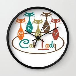 Crazy Cat Lady 2 Wall Clock