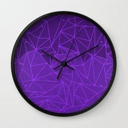 B Rays Violet Wall Clock