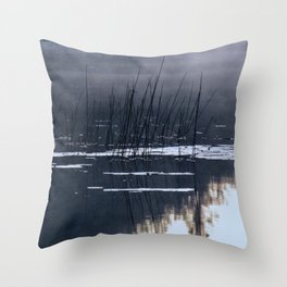 Mists on the Water Throw Pillow