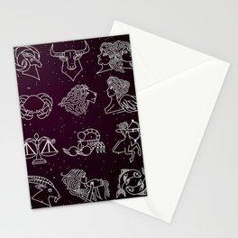 twelve zodiac constellation horoscope signs Stationery Cards