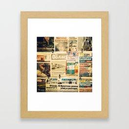 Russian newspapers Framed Art Print