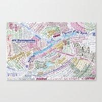 literary Canvas Prints featuring St. Petersburg Literary Map by Ilya Merenzon