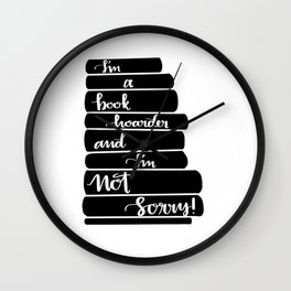 Book Hoarder Wall Clock