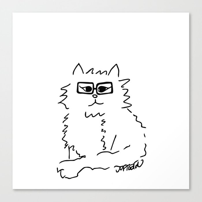How Do You Like Meow Hipster Kitten Canvas Print