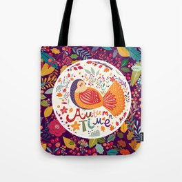 Bird in autumn forest Tote Bag