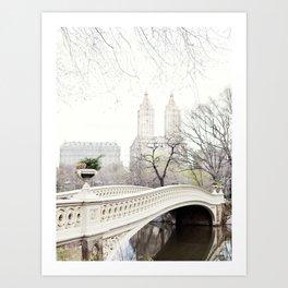 Bow Bridge in Central Park - Travel Photography, New York Art Print