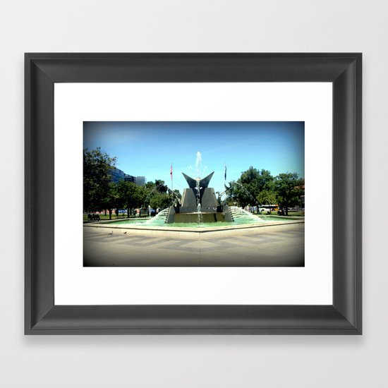 Victoria Square Fountain - Adelaide Framed Art Print