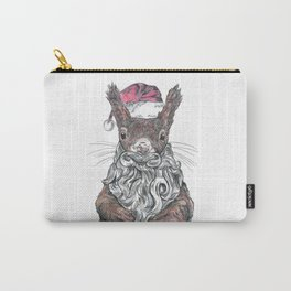 Santa Squirrel Carry-All Pouch