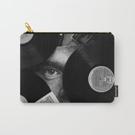 Long-playing Records and Covers in Black and White - Good Memories #decor #society6 #buyart Carry-All Pouch