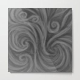 Dark Gray Swirl Metal Print