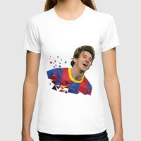 messi T-shirts featuring Messi  by Abhikreationz