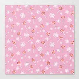 Winter lollipop design Canvas Print