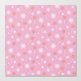 Winter lollipop design Canvas Print