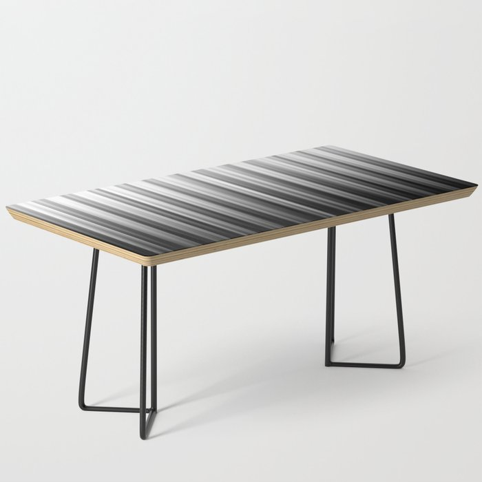 Black And White Soft Blurred Vertical Lines - Ombre Abstract Blurred Design Coffee Table
