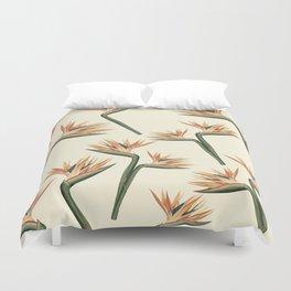 Birds of Paradise Flowers Duvet Cover