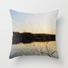 Reeds by the River | Severn River, MD Throw Pillow