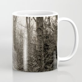 Fallen And Broken Trees After Storm Victoria February 2020 Möhne Forest 8 sepia Coffee Mug