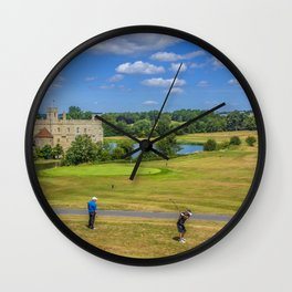 Teeing Off at Leeds Castle Wall Clock