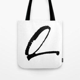 Letter Q Ink Monogram Tote Bag