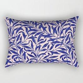 Leaves pattern blue pink Rectangular Pillow