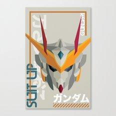 Suit Up // Gundam Canvas Print