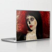 dia de los muertos Laptop & iPad Skins featuring Dia de los muertos by solocosmo