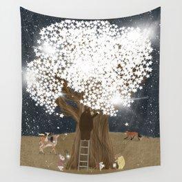 the starlight tree Wall Tapestry