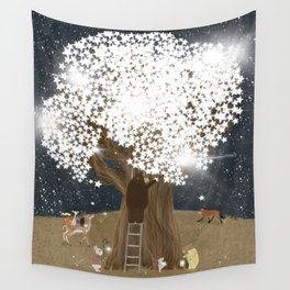 the starlight tree Wall Tapestry