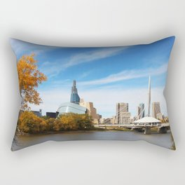 Downtown Winnipeg 2 Picture Panorama Rectangular Pillow