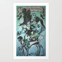 dishonored Art Prints featuring Biohonored by vicious mongrel