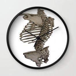 Human Backbone Wall Clock