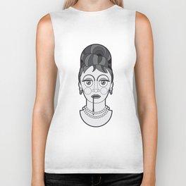 Audrey Hepburn - B&W Divas Biker Tank