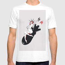 Bombshell - Statue of Liberty Political Art Print T-shirt