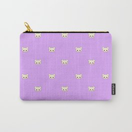 Deaddy Bear All Over Print Lavender Carry-All Pouch