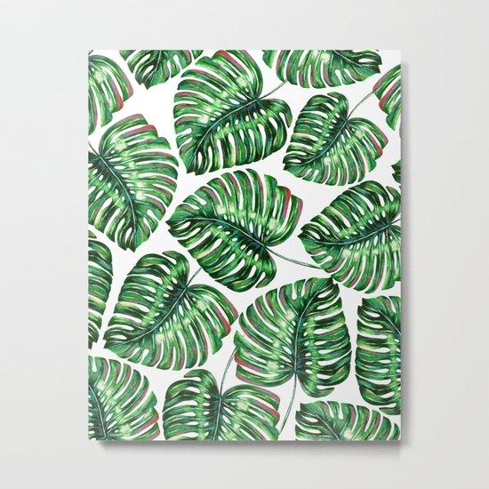 Tropical Greenery #society6 #decor #buyart Metal Print