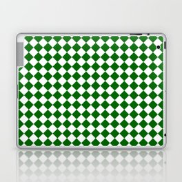 Small Diamonds - White and Dark Green Laptop & iPad Skin