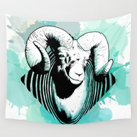 aries Wall Tapestries featuring Aries by NASBarte