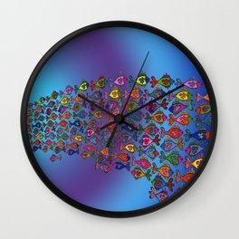 Frilly Fish Wall Clock