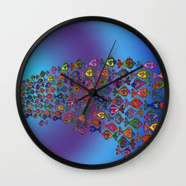 Frilly Fish Wall Clock