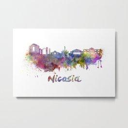 Nicosia skyline in watercolor Metal Print