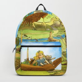 Flying On Polly Over an Enchanted Land Backpack
