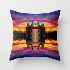 Castle rocket Throw Pillow