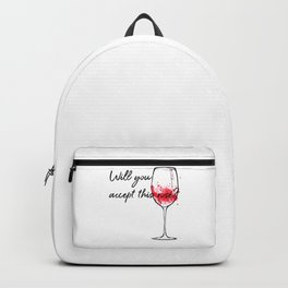 Will You Accept This Rose Charming Proposal Design Backpack