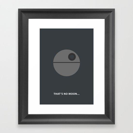 Star Wars Minimalism - Death Star Framed Art Print