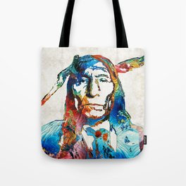 Native American Art - Warrior - By Sharon Cummings Tote Bag
