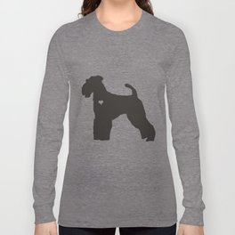My Airedale Terrier Heart Belongs To You Long Sleeve T-shirt