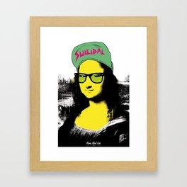 Mona Nerd Lisa Framed Art Print