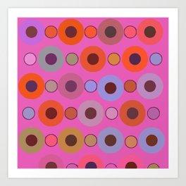 Abstract circle color print Art Print