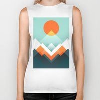 outdoor Biker Tanks featuring Everest by Picomodi