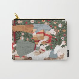 Kids decorating Christmas tree Carry-All Pouch